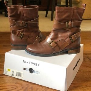 Nine West leather boots work once